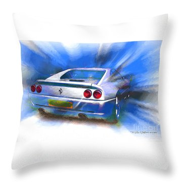 Ferrari 355 Berlinetta Throw Pillow