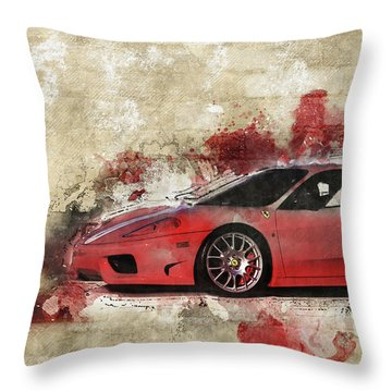 Throw Pillow featuring the photograph Ferrari 430  by Joel Witmeyer