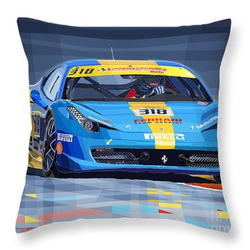 Ferrari 458 Challenge Team Ukraine 2012 Variant Throw Pillow