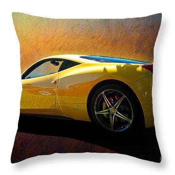 Ferrari 458 Italia Throw Pillow