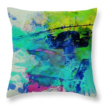 Ferrari 512 On Race Track 1 Throw Pillow by Naxart Studio