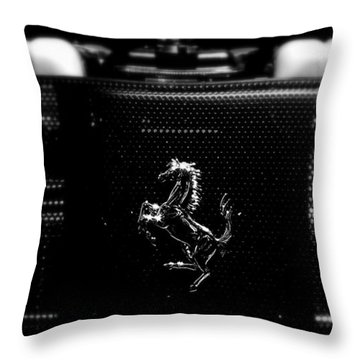 Ferrari Engine Grill Throw Pillow