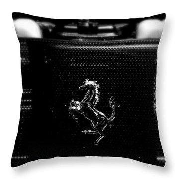 Ferrari Engine Grill Throw Pillow by Jeff Lowe