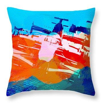 Ferrari F1 Racing Throw Pillow by Naxart Studio