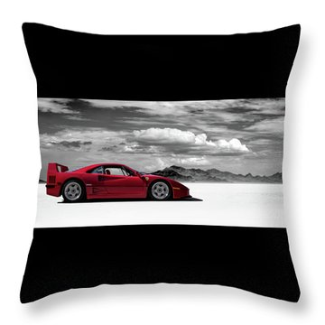 Ferrari F40 Throw Pillow