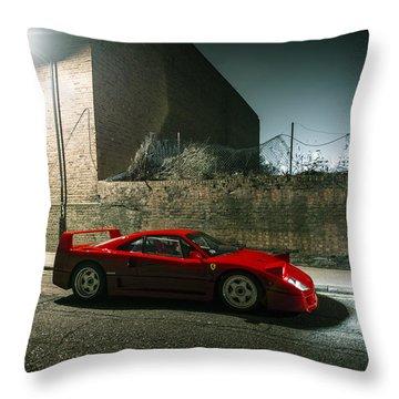 Ferrari F40 Lurking Throw Pillow