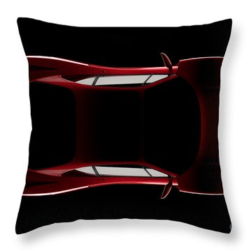 Ferrari F40 - Top View Throw Pillow