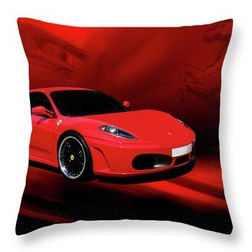 Ferrari F430 Throw Pillow