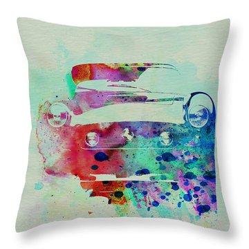 Ferrari Front Watercolor Throw Pillow