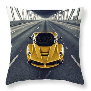 Throw Pillow featuring the photograph Ferrari Laferrari by ItzKirb Photography
