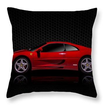 Ferrari Red - 355  F1 Berlinetto Throw Pillow by Douglas Pittman