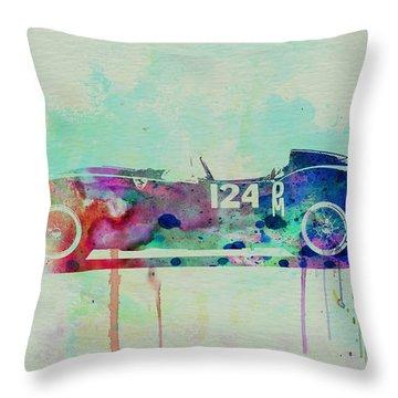 Ferrari Testa Rossa Watercolor 2 Throw Pillow by Naxart Studio