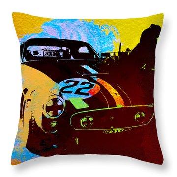Ferrari Watercolor Throw Pillow