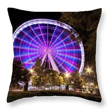 Ferris Wheel At Centennial Park 1 Throw Pillow