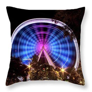 Ferris Wheel At Centennial Park 2 Throw Pillow