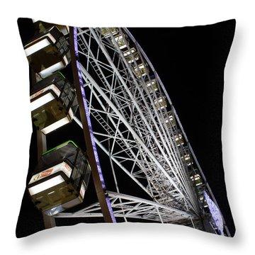 Ferris Wheel At Night 16x20 Throw Pillow