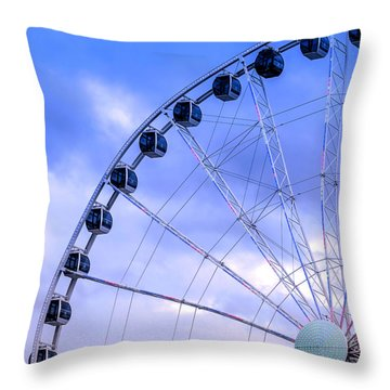 Ferris Wheel Throw Pillow by Cathy Donohoue