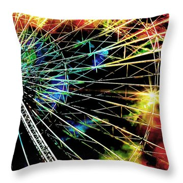 Ferris Wheel, Grand Roue Throw Pillow