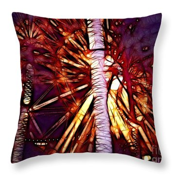 Throw Pillow featuring the photograph Ferris Wheel  by Mariola Bitner
