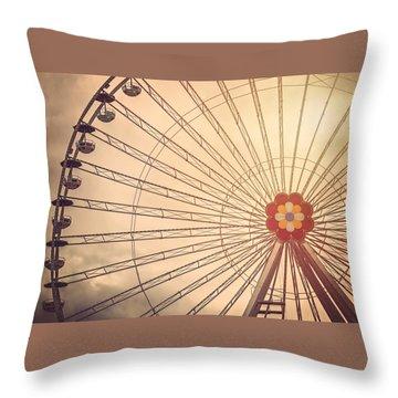Ferris Wheel Prater Park Vienna Throw Pillow