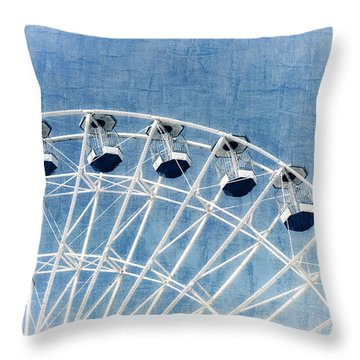 Wonder Wheel Series 1 Blue Throw Pillow
