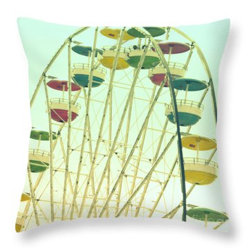Ferris Wheel Throw Pillow by Valerie Reeves