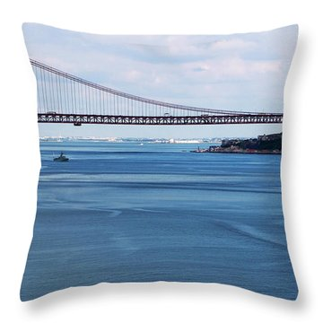 Throw Pillow featuring the photograph Ferry Across The Tagus by Lorraine Devon Wilke
