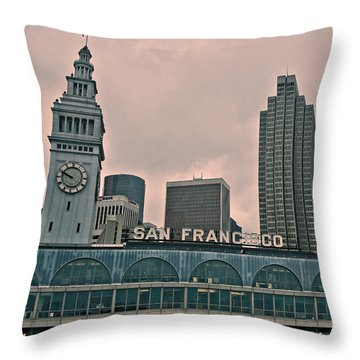 Throw Pillow featuring the photograph Ferry Arrival by Kim Wilson