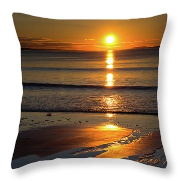 Throw Pillow featuring the photograph Ferry Beach Sunrise by Kirkodd Photography Of New England