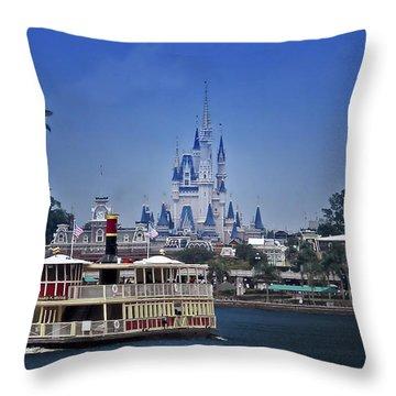 Ferry Boat Magic Kingdom Walt Disney World Mp Throw Pillow