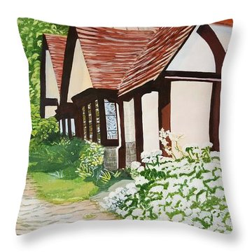 Ferry Cottage Throw Pillow by Joanne Perkins