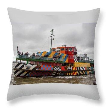 Ferry Cross The Mersey - Razzle Boat Snowdrop Throw Pillow