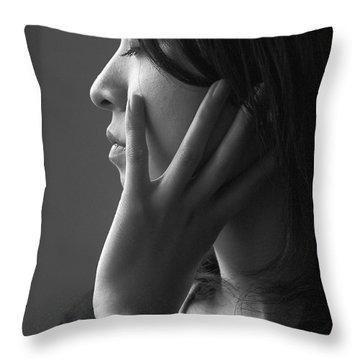 Ferry Girl Throw Pillow by Sheila Smart Fine Art Photography
