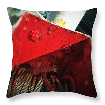 Throw Pillow featuring the photograph Ferry Hardware by Olivier Calas
