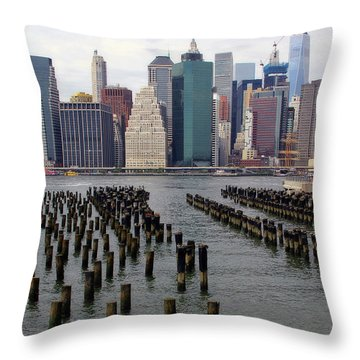 Ferry Hopping New York Throw Pillow
