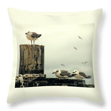 Ferry Hypnosis Throw Pillow by Joe Jake Pratt