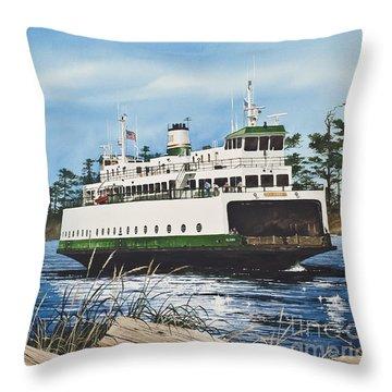 Ferry Illahee Throw Pillow by James Williamson