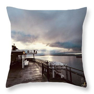 Ferry Morning Throw Pillow