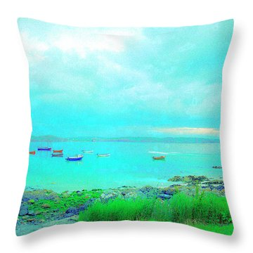 Ferry Wake Throw Pillow