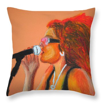 Festival Diva IIi Throw Pillow by Michael Lee