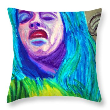 Festival Diva Throw Pillow by Michael Lee