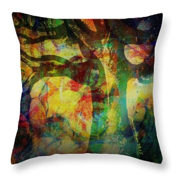 Festival Baobab Throw Pillow by Fania Simon