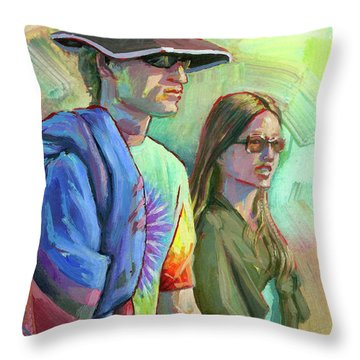 Festival Goers Throw Pillow