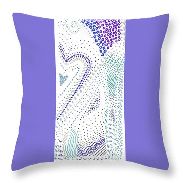 Festival In Blue And Silver Throw Pillow