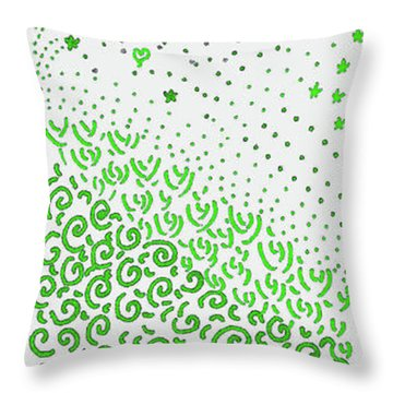 Festival Of Greens Throw Pillow