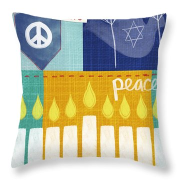 Festival Of Lights- Hanukkah Art By Linda Woods Throw Pillow