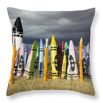 Festival Of The Crayons Throw Pillow