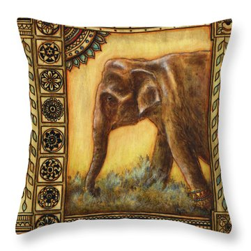 Festival Princess Throw Pillow by Retta Stephenson