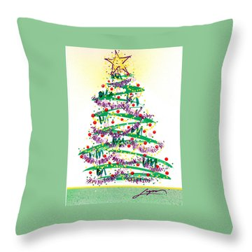 Festive Holiday Throw Pillow