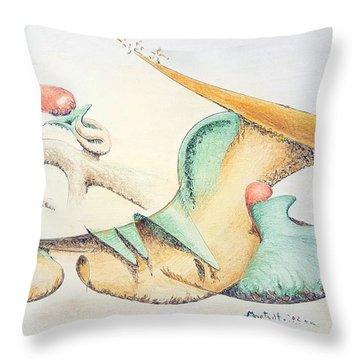 Festive Horn Throw Pillow